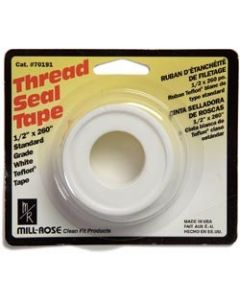 Mill-Rose, Thread Seal Tape, 520 inch x 3/4 inch, General Purpose  PTFE Tape
